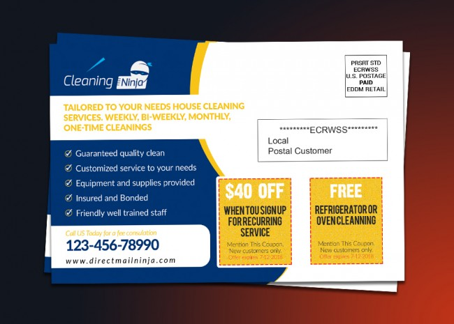 Cleaning Service EDDM Postcard Template Croovs Community Of - Eddm postcard template